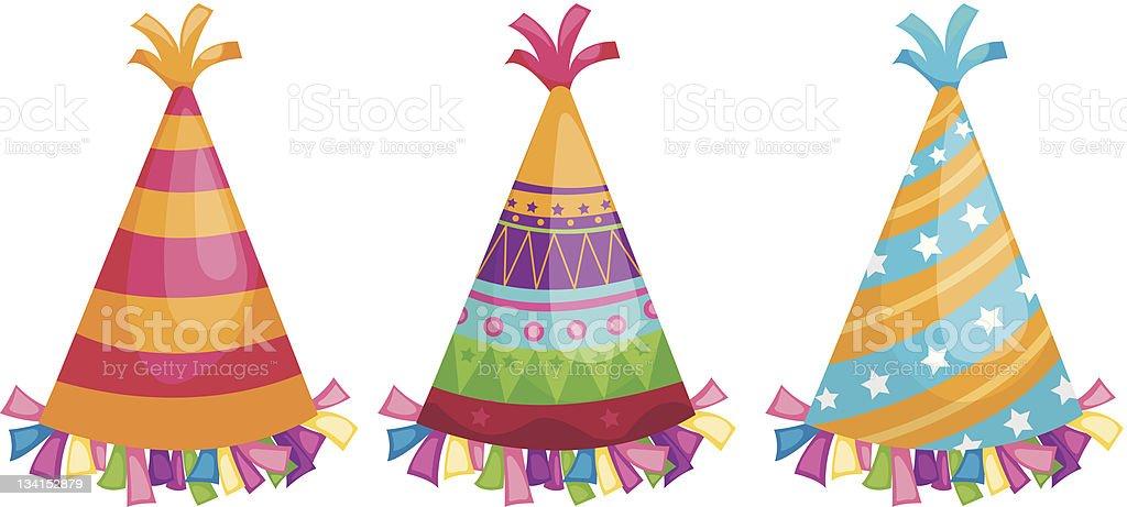 Party hat vector art illustration