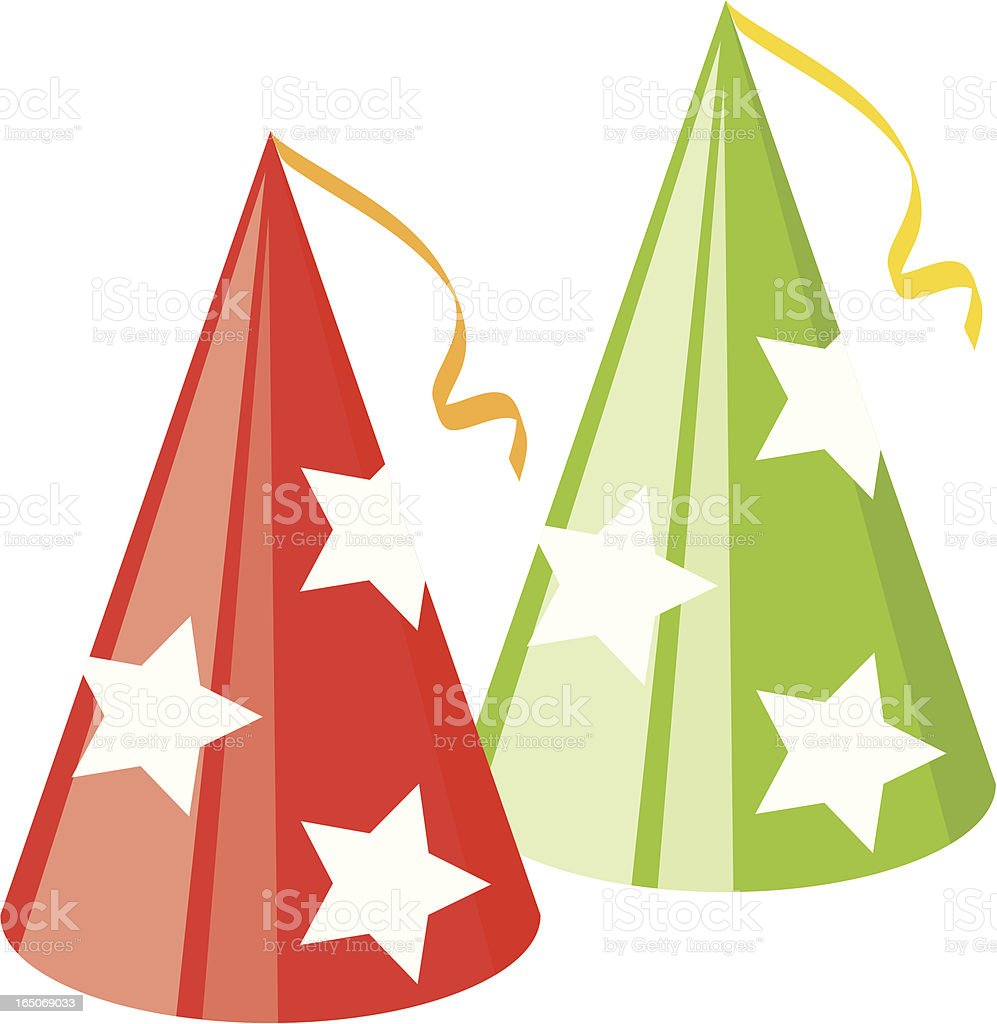 Party Hats vector art illustration