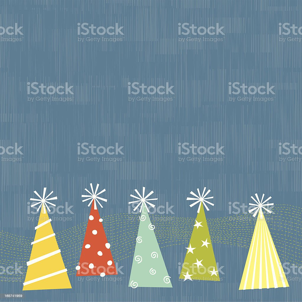 Party Hats royalty-free stock vector art