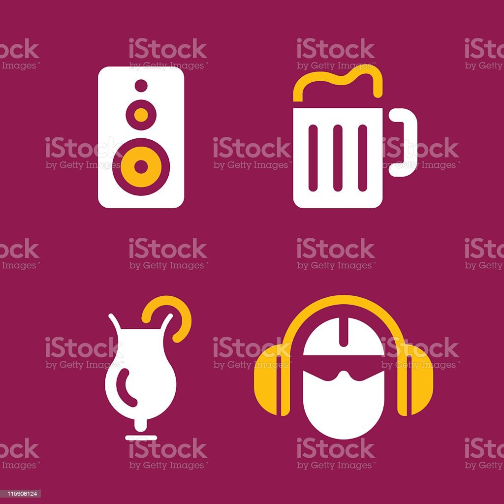 Party icons royalty-free stock vector art