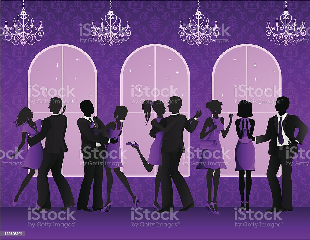 Party in a Nightclub royalty-free stock vector art