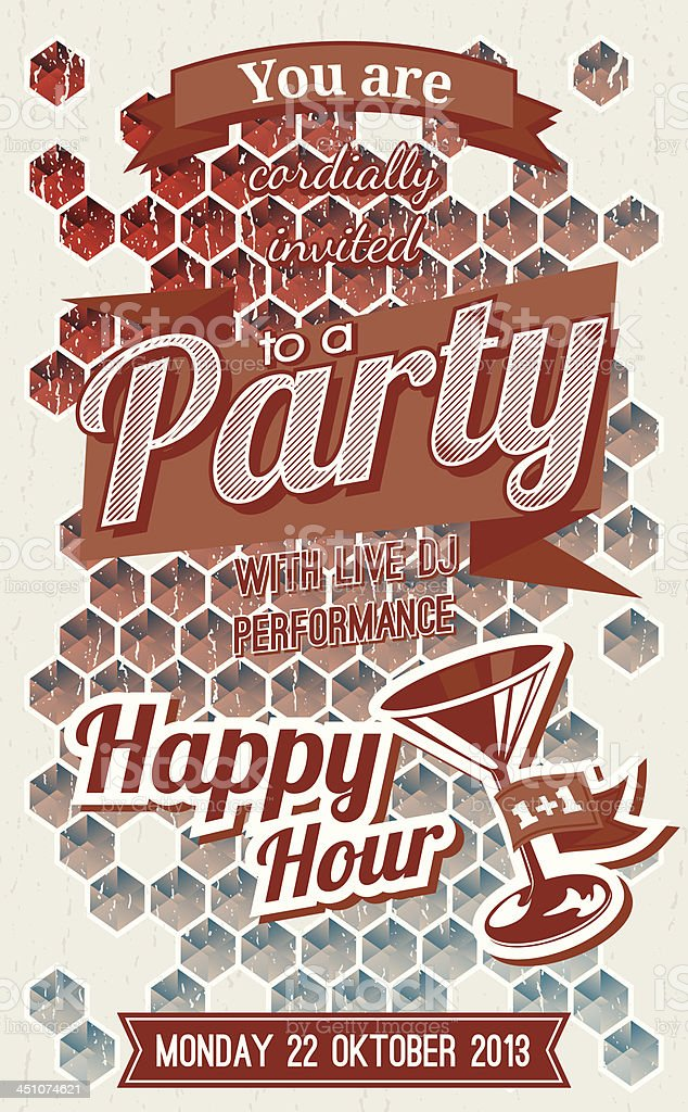 Party Invitation vector art illustration