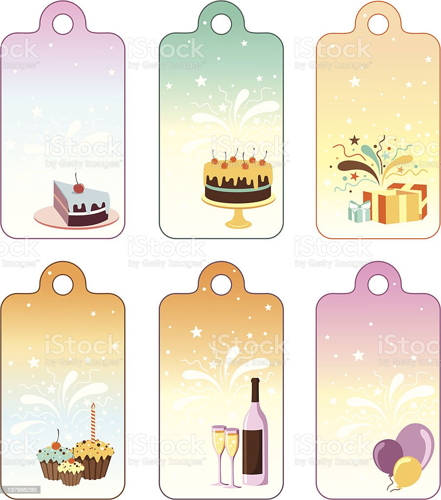 Party Labels. royalty-free stock vector art