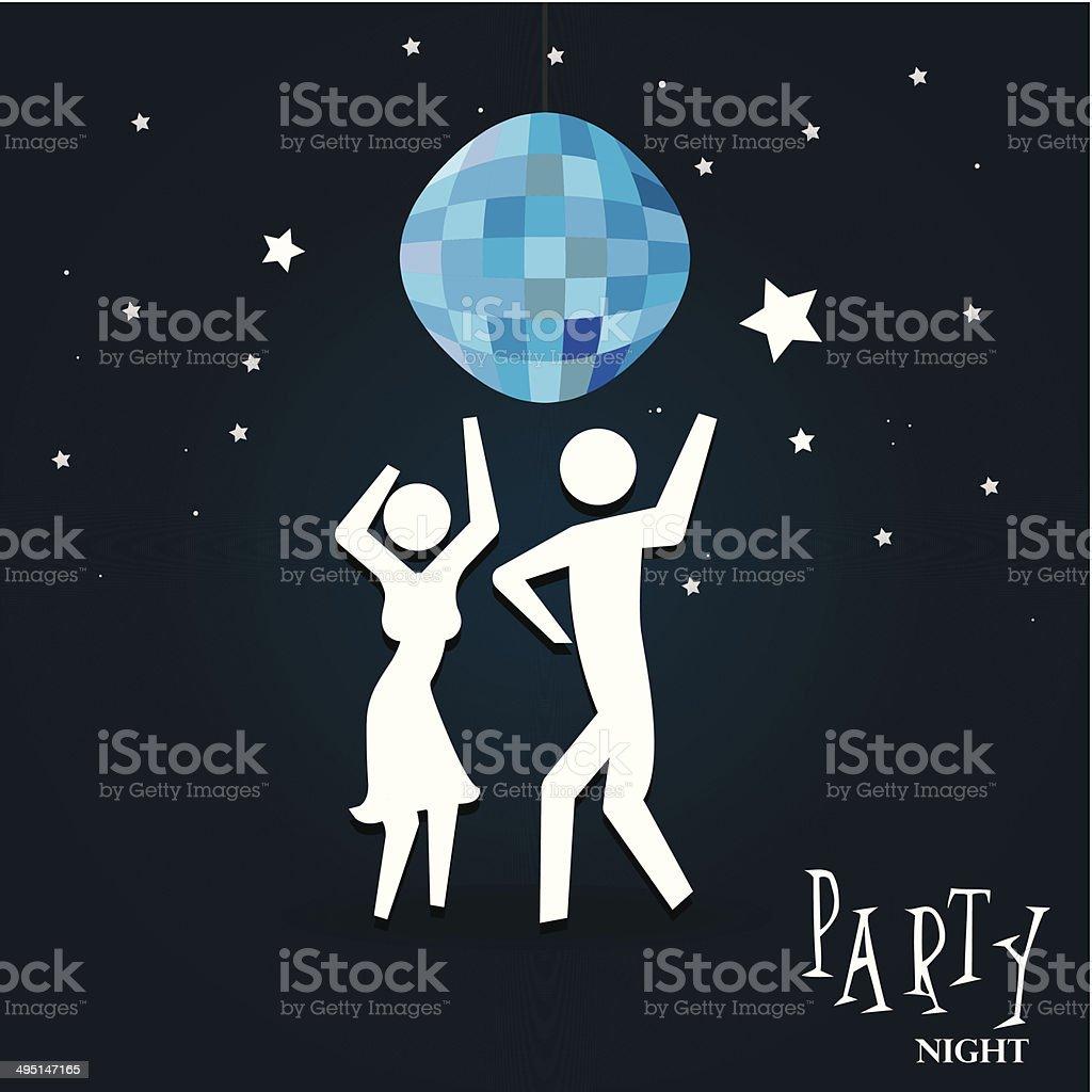 party night vector art illustration