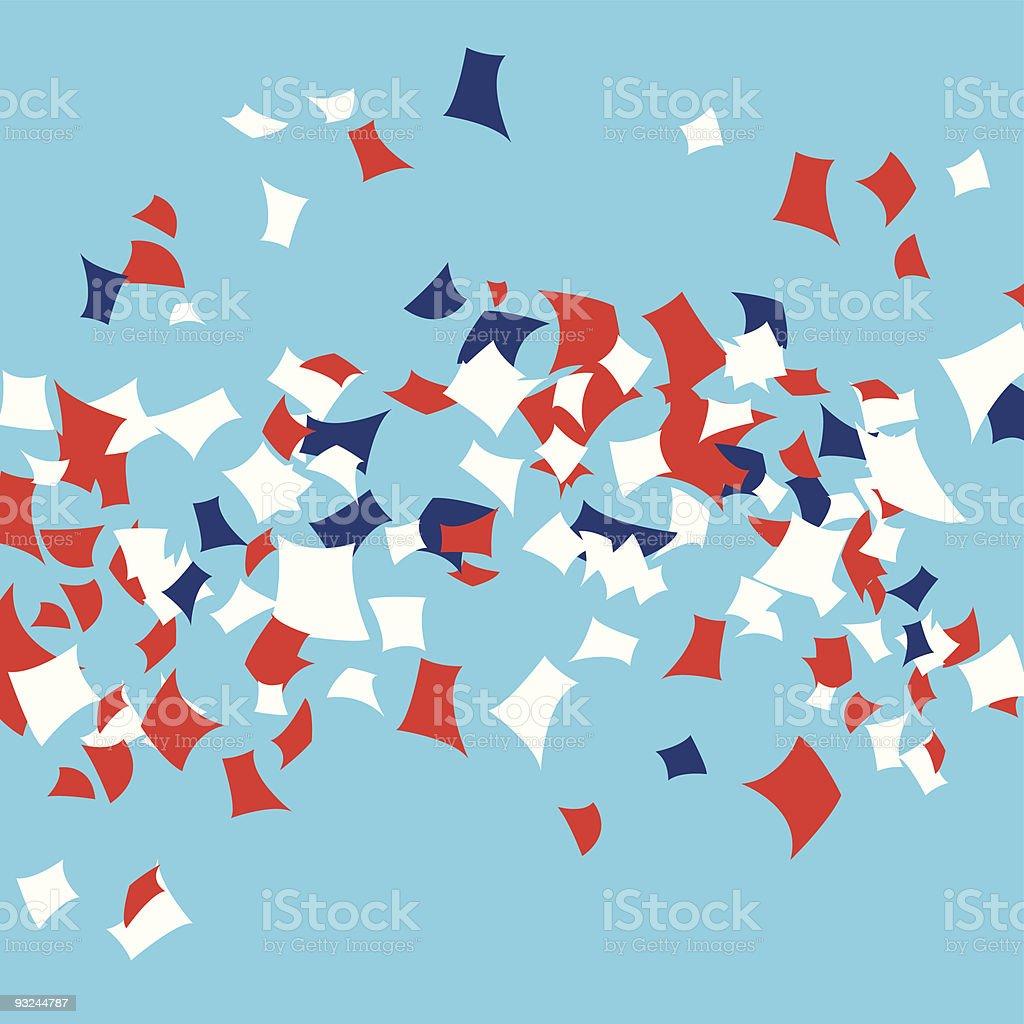 Party / Parade Confetti royalty-free stock vector art
