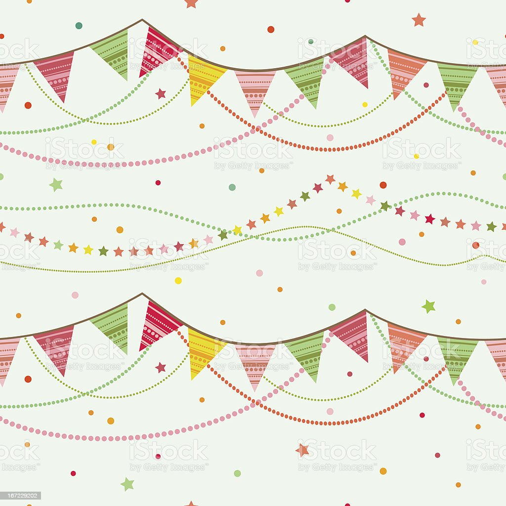 Party pennant bunting. vector art illustration