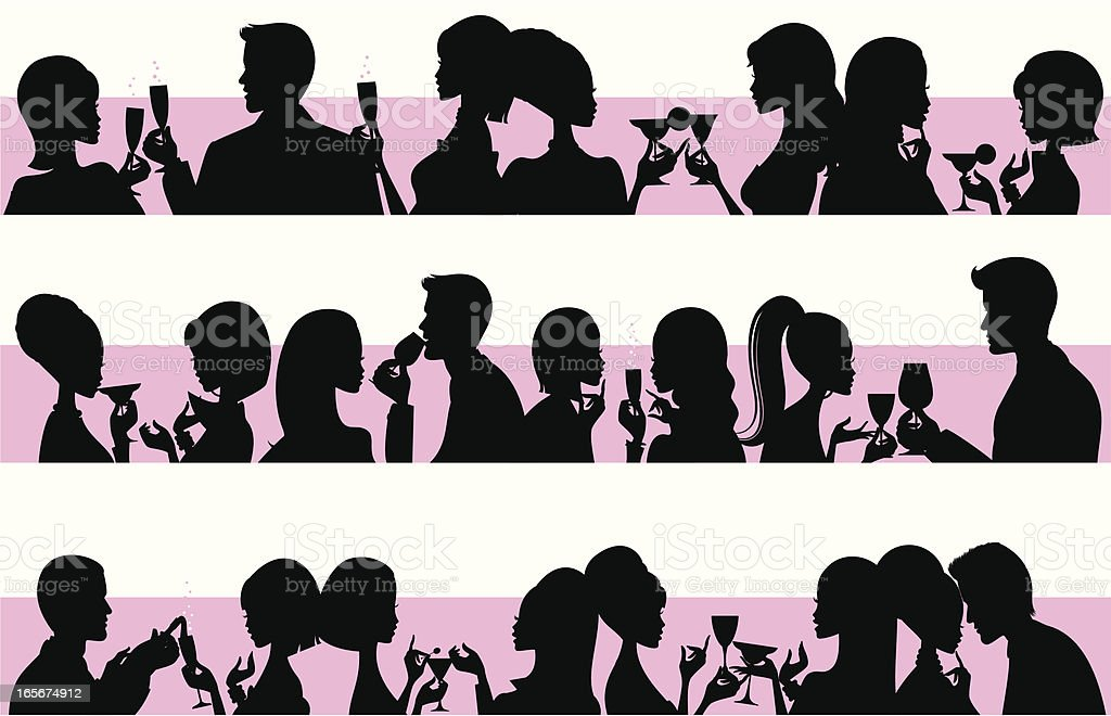 Party People vector art illustration