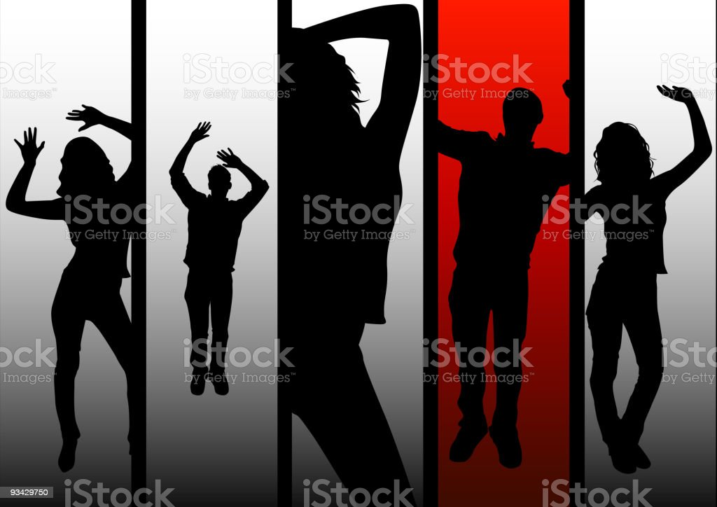 Party People royalty-free stock vector art