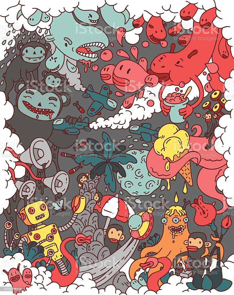 party pooper vector art illustration
