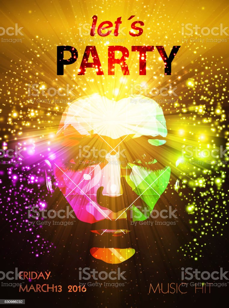 Party poster vector art illustration