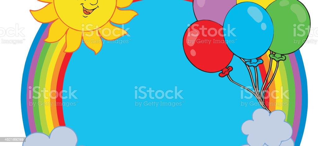 Party rainbow circle royalty-free stock vector art