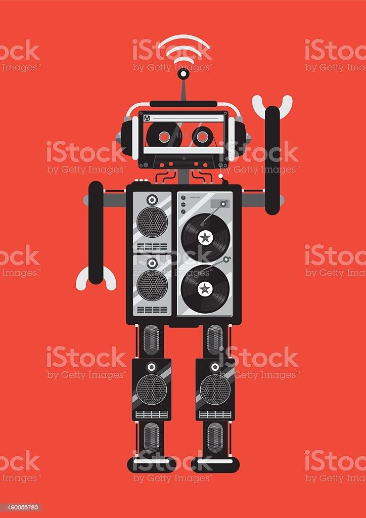 Party robot vector art illustration