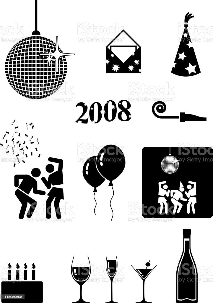 party royalty free vector icon set royalty-free stock vector art