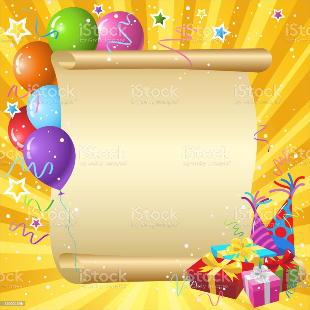 Party Scroll royalty-free stock vector art