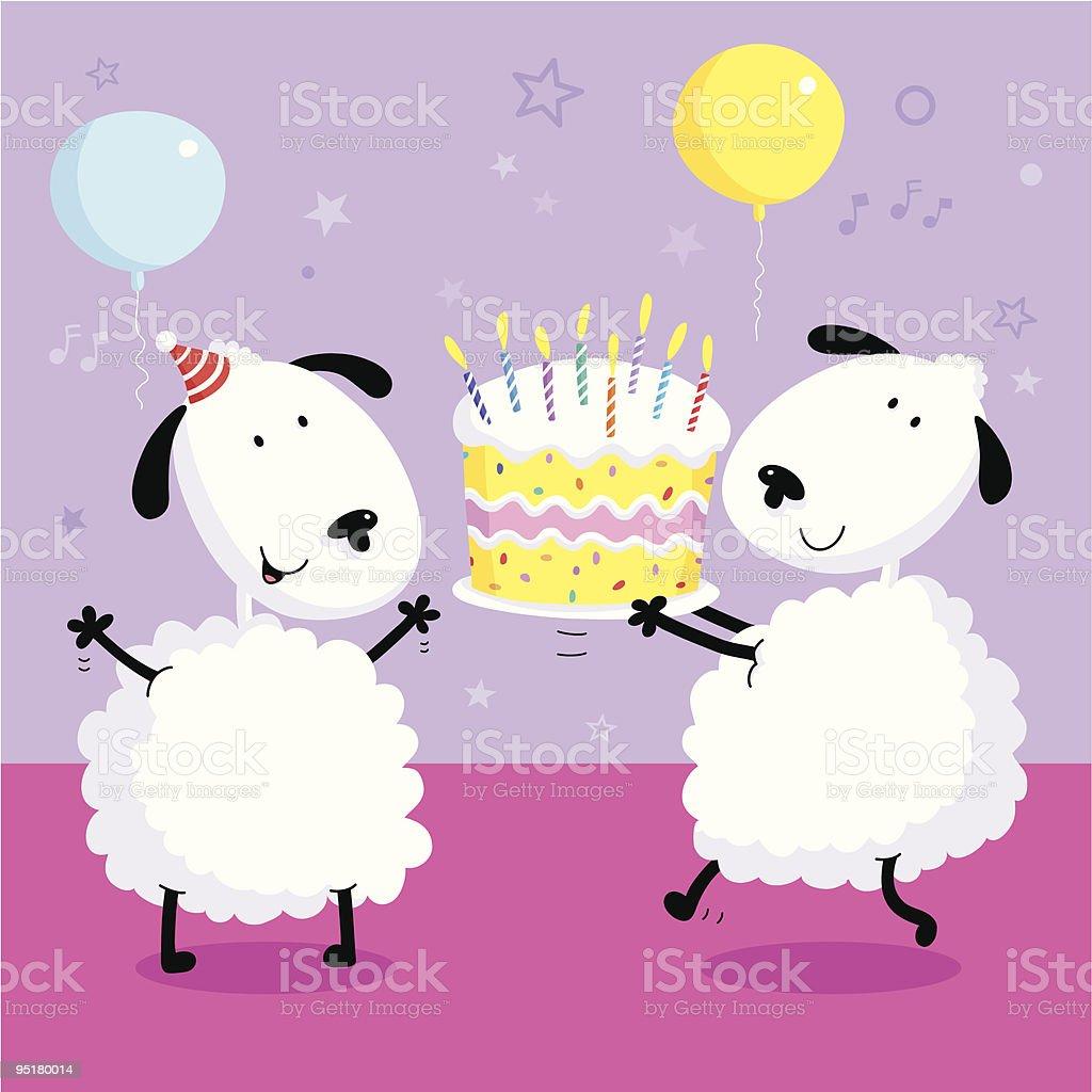 Party Sheep royalty-free stock vector art