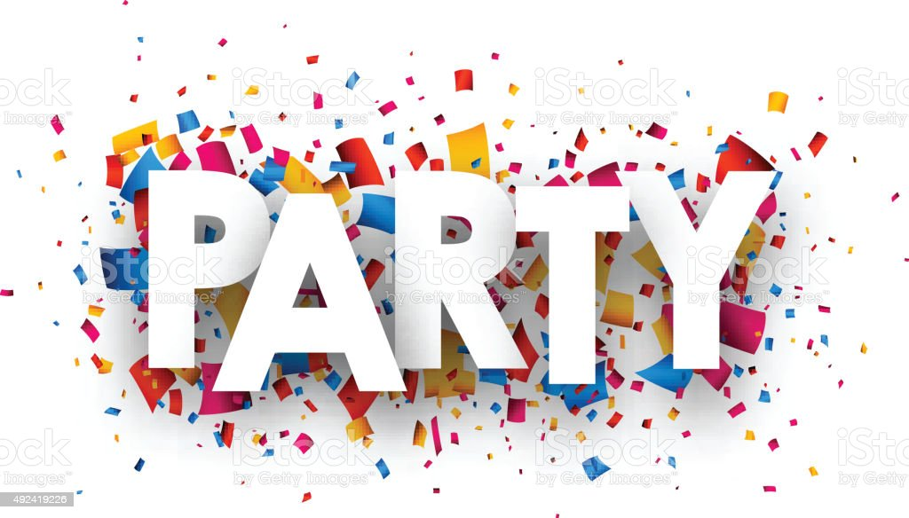 Party sign vector art illustration