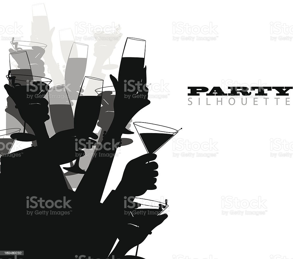 Party Silhouette vector art illustration