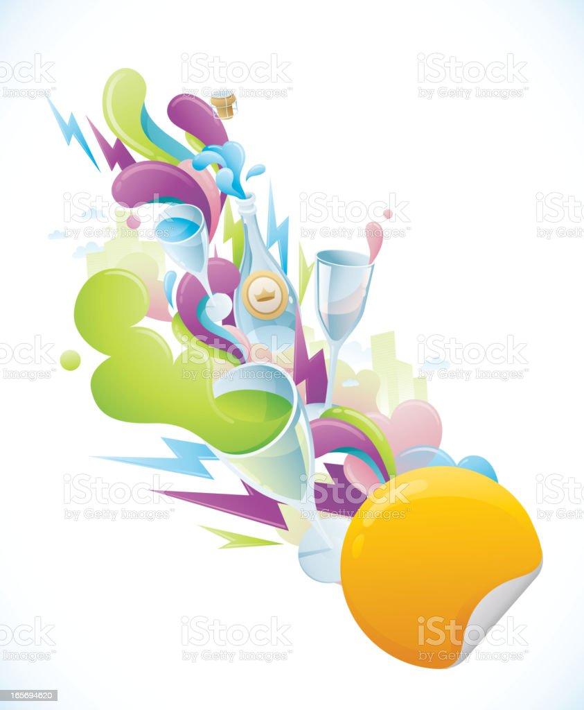 Party Splash Background royalty-free stock vector art