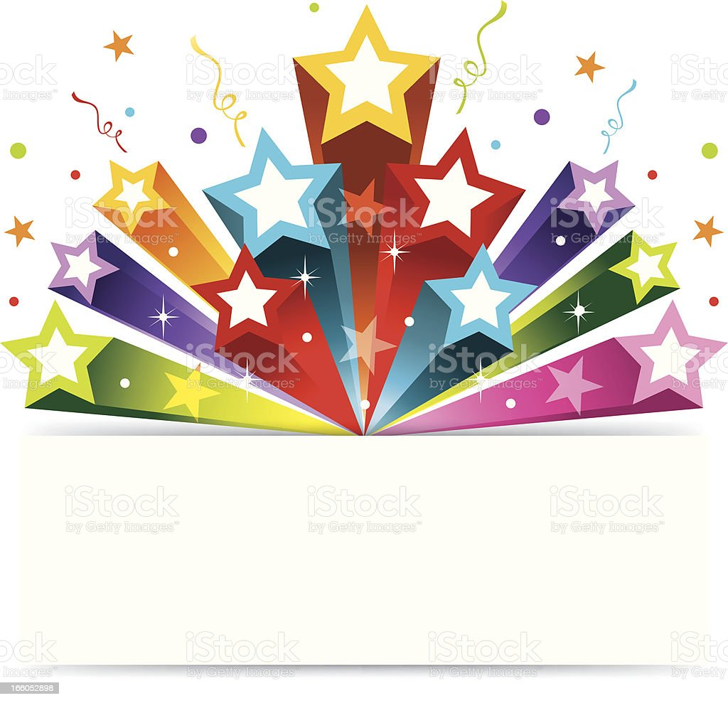 Party Star Banner royalty-free stock vector art