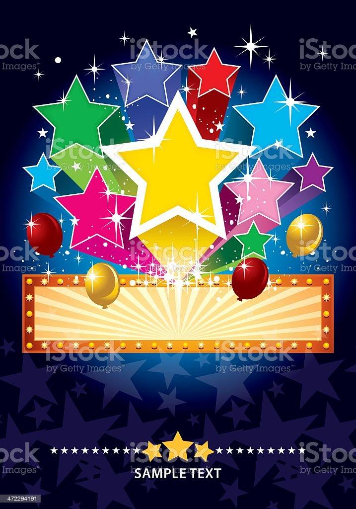 Party Star Celebration royalty-free stock vector art
