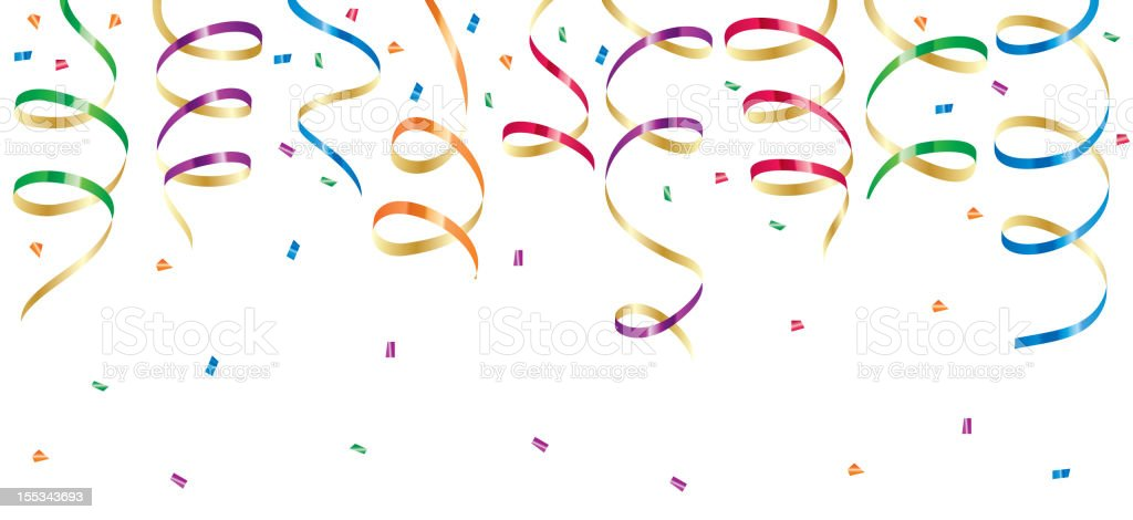Party streamers royalty-free stock vector art