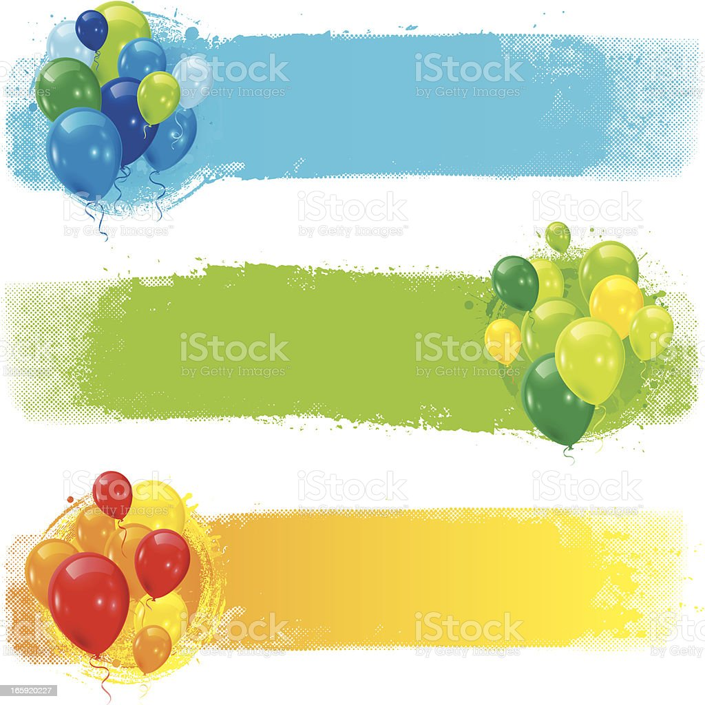 Party strips royalty-free stock vector art