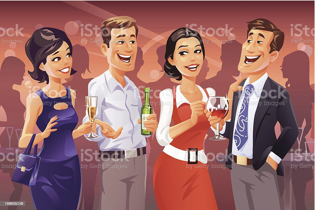 Party Talk vector art illustration