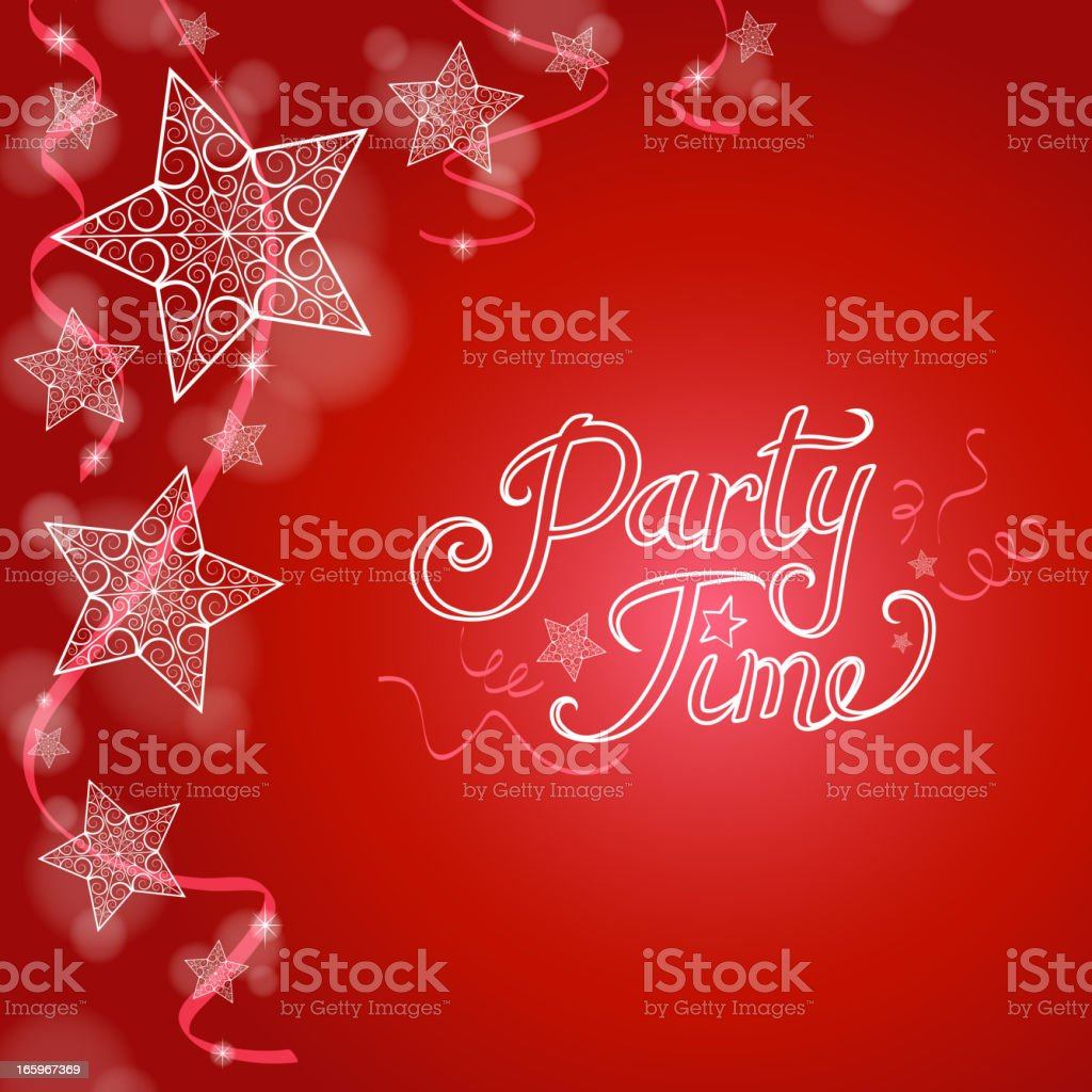 Party Time Background royalty-free stock vector art