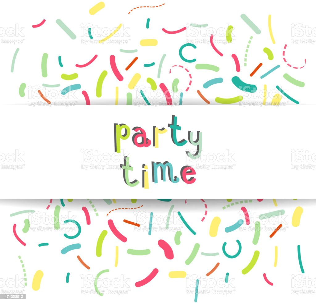party time banner vector art illustration