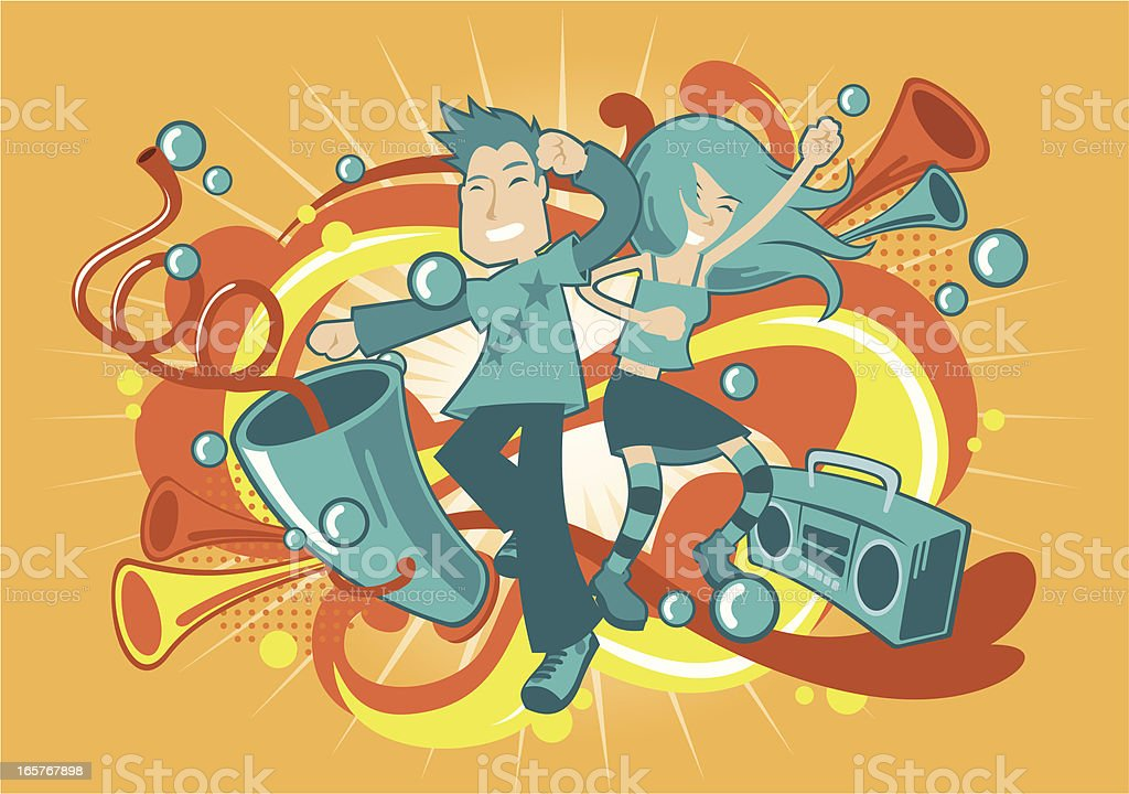 Party Time vector art illustration