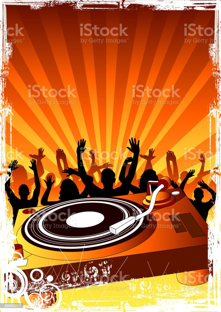 Party Up Crowd royalty-free stock vector art