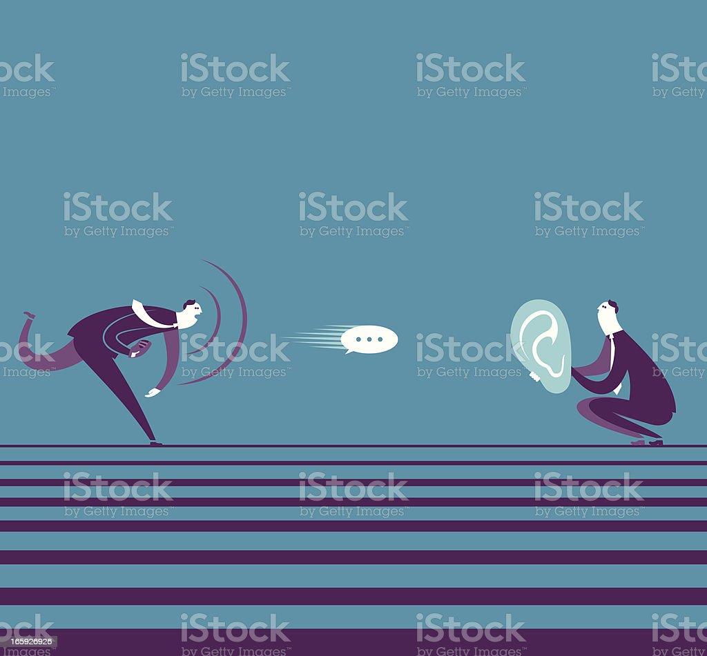 Pass Message vector art illustration