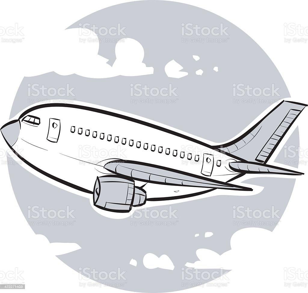 Passenger Airliner royalty-free stock vector art