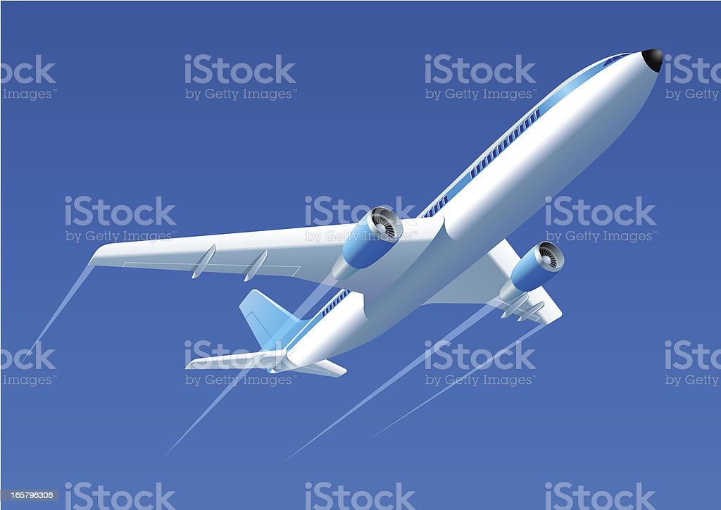 Passenger airplane royalty-free stock vector art