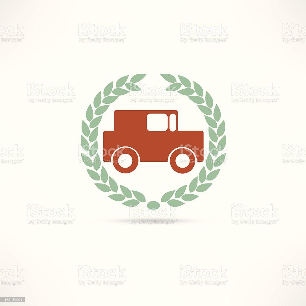 passenger car vector art illustration