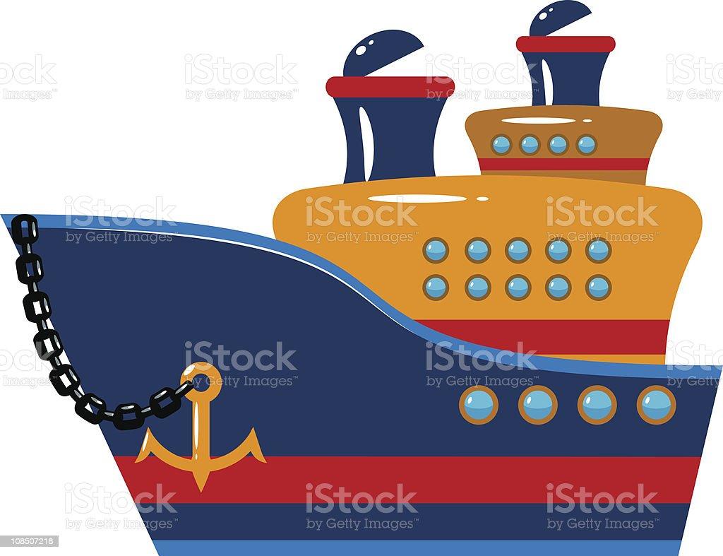 Passenger cruise ship royalty-free stock vector art