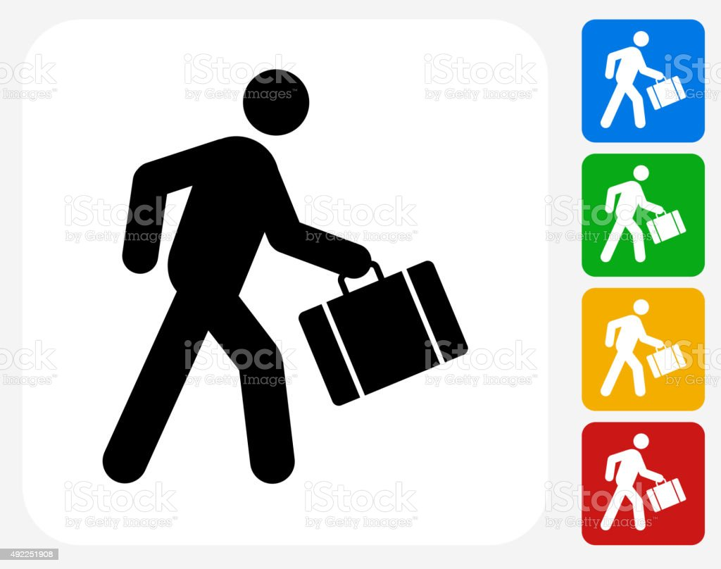 Passenger Icon Flat Graphic Design vector art illustration