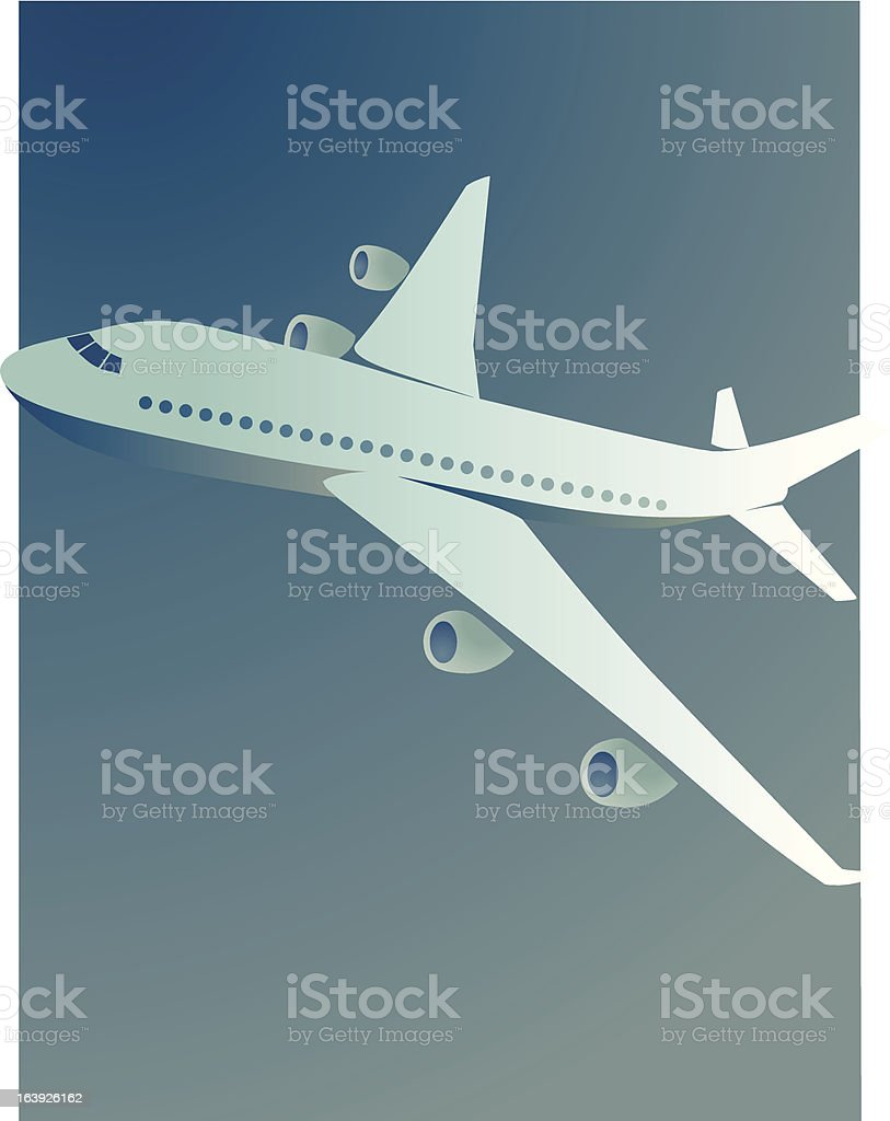Passenger Jet Airplane vector art illustration
