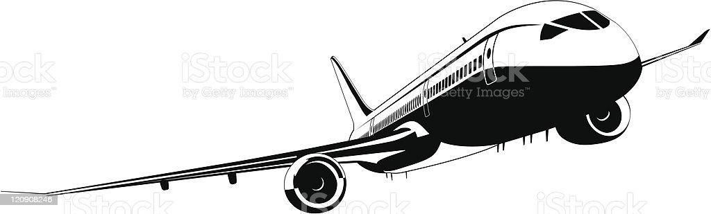 Passenger Jet Dreamliner vector art illustration