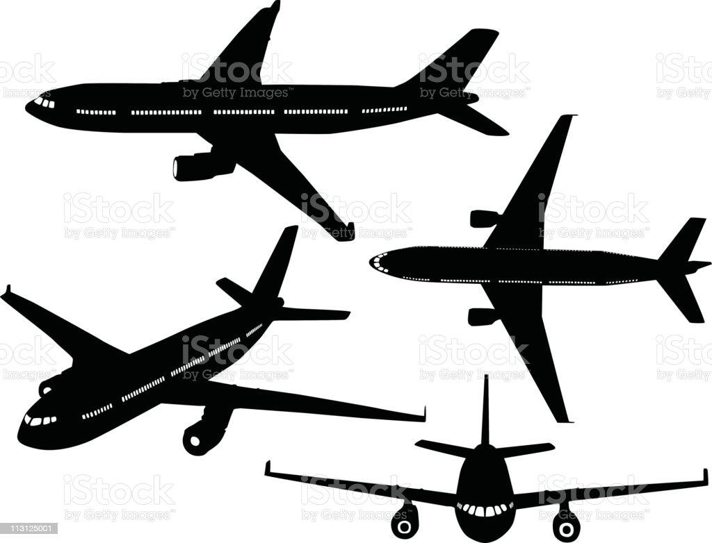 Passenger Jets (Vector) royalty-free stock vector art