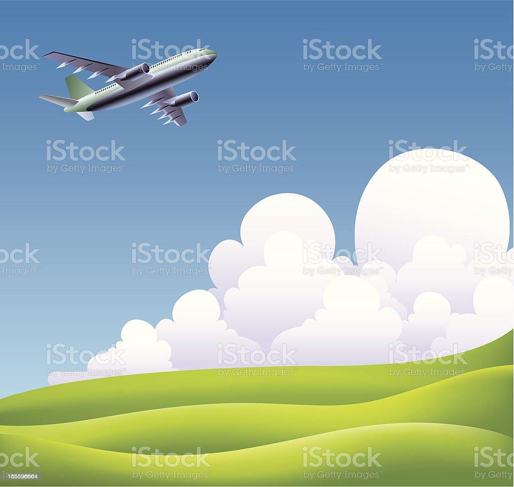 passenger plane royalty-free stock vector art