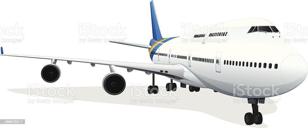 passenger plane vector art illustration