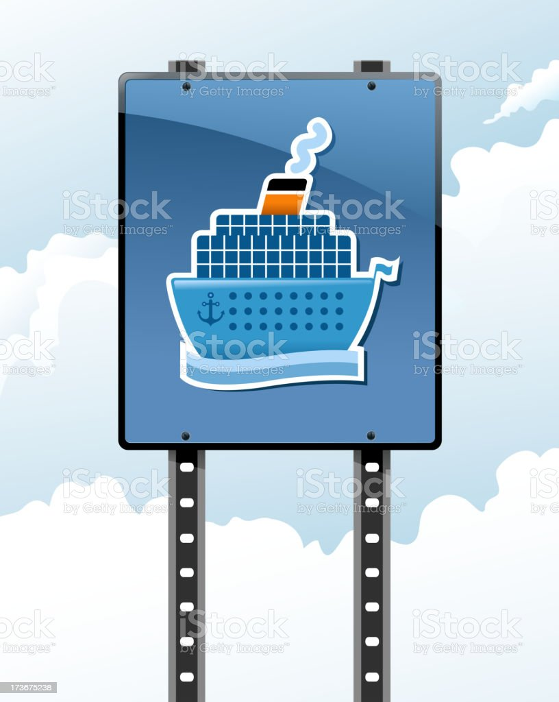 passenger ship sign royalty-free stock vector art