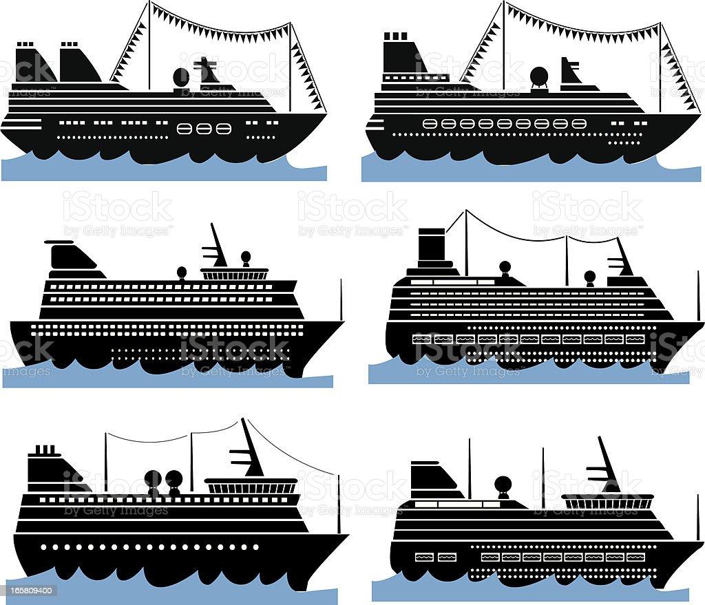 Passenger Ships royalty-free stock vector art