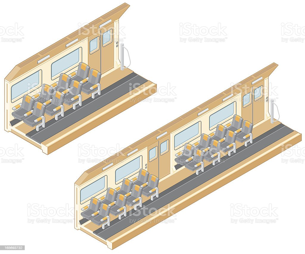 Passenger Train. vector art illustration