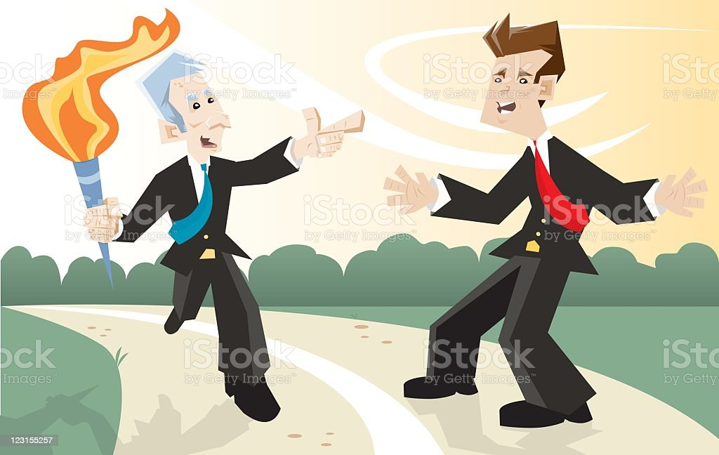 Passing the Torch royalty-free stock vector art