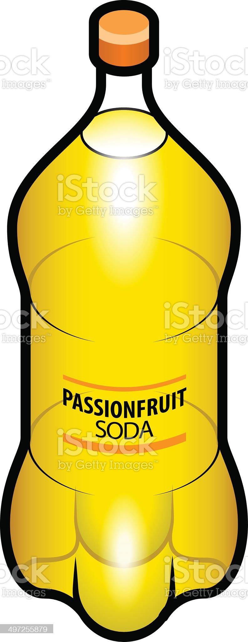 Passionfruit Soda royalty-free stock vector art