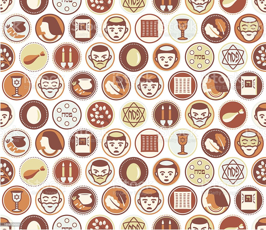 Passover Circles Seamless Pattern vector art illustration