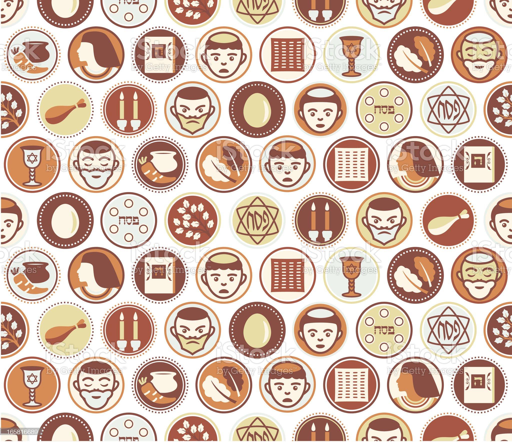 Passover Circles Seamless Pattern royalty-free stock vector art