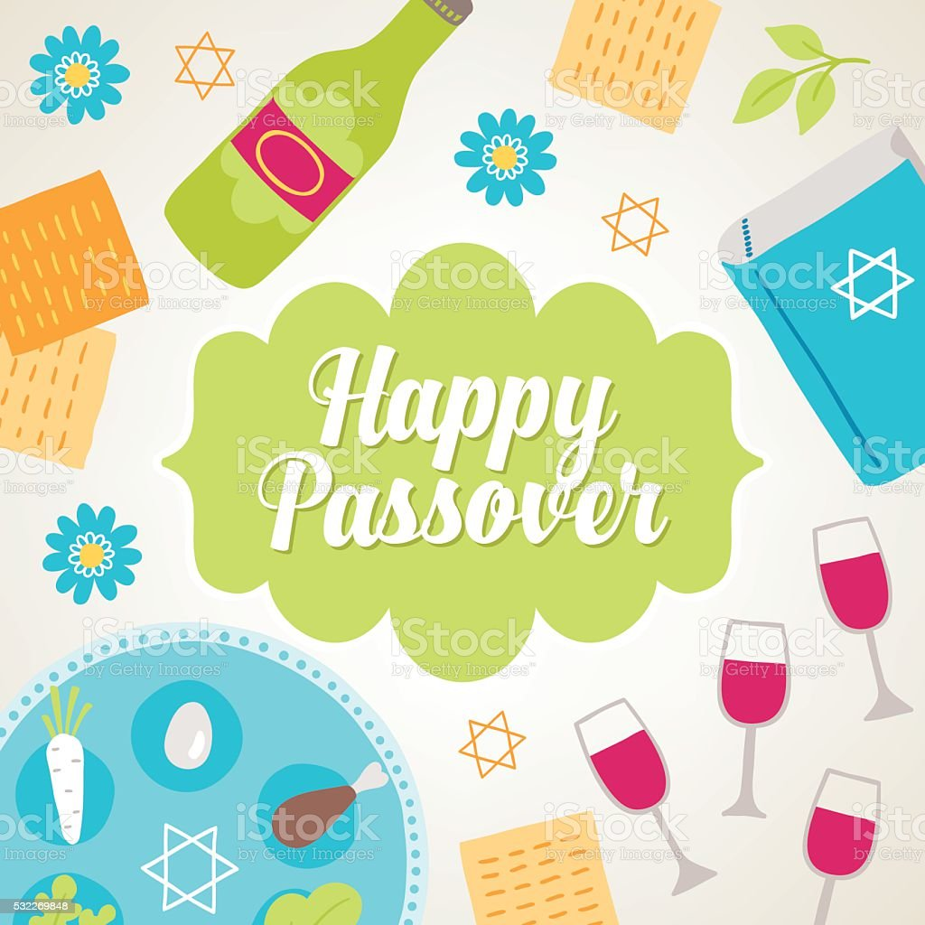 Passover greeting card. Vector illustration vector art illustration